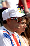 A British supporter at the Olympic Games 2012 Royalty Free Stock Photo