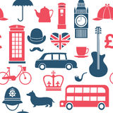 British symbols seamless pattern Royalty Free Stock Images