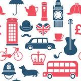 British symbols seamless pattern stock illustration