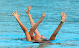 British synchro swimmers Royalty Free Stock Images
