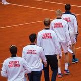 British team on Davis Cup, BELGRADE, SERBIA JULY 16, 2016 Stock Image