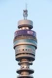 British Telecom Tower head at sunset Royalty Free Stock Photography