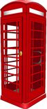 British Telephone Booth. Illustration of a typical iconic British red telephone booth Royalty Free Stock Photo