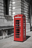 British telephone booth. In London stock images