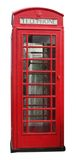 British Telephone Booth. A British style telephone booth isolated on white Stock Photo