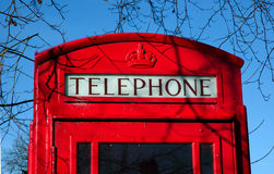 British Telephone Box Royalty Free Stock Image