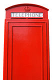 British telephone box. The back of an old British telephone box, with space for text Royalty Free Stock Photography