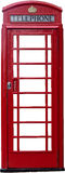 A British telephone box isolated Royalty Free Stock Images