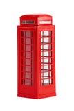 British telephone box, isolated on a white background Stock Images