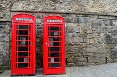 British telephone boxes Royalty Free Stock Image