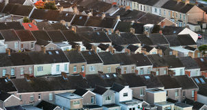 British terraced houses Stock Image