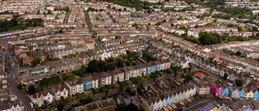 British terraced houses in the UK Stock Photography