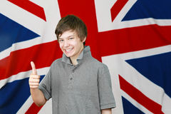 British thumbs up royalty free stock photo