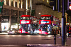 British Traffic At Night Stock Photo
