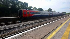 SWR train parked during strike at Yeovil junction stock photos