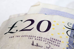 British twenty pound note Stock Image