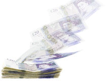British twenty pound notes stock photography