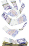 British twenty pound notes stock photography