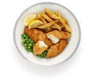 british układ scalony rybi jedzenie Zdjęcia Stock