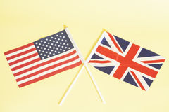 British (UK) and American (USA) flags Stock Images
