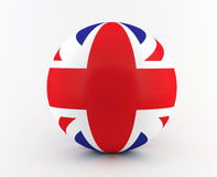 British - UK flag on 3D sphere Stock Photo