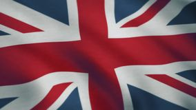 British UK Flag. National textured flag of the United Kingdom of Great Britain. Seamless Looping Animation.  stock footage