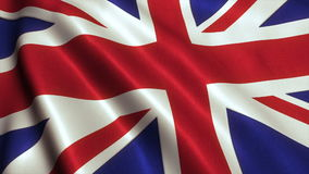 British UK Flag Video Footage Animation. British UK Flag. Seamless Looping Animation. HD High Definition Video stock footage