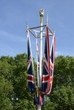 British Union Flags on The Mall. London. England Stock Photo