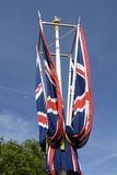 British Union Flags on The Mall. London. England Royalty Free Stock Photo