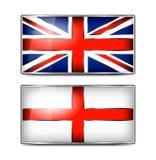 British Union Jack and England Enamel Flag Royalty Free Stock Image