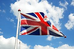 British Union Jack flag. Stock Photo