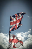 British Union Jack flag blowing in the wind. Royalty Free Stock Photo