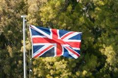 British Union Jack Flag Flying. The Union Jack flying in bright sunlight royalty free stock photo