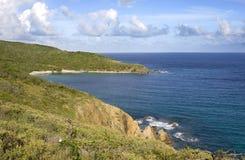 British Virgin Island shoreline. Lush green shoreline of the British Virgin Islands Royalty Free Stock Images