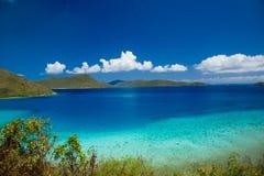British Virgin Island from St John in the US Virgin Islands stock photos