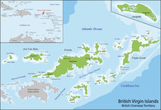 British Virgin Islands map Stock Images