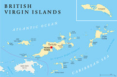 British Virgin Islands Political Map Stock Photography
