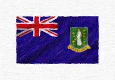 British Virgin Islands räcker den målade vinkande nationsflaggan, olje- PA Arkivbild