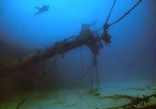 British Virgin Islands shipwreck Royalty Free Stock Photos