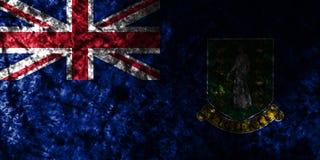 British Virgin Islands grunge flag on old dirty wall, British Overseas Territories, Britain dependent territory flag. British Virgin Islands smoke flag, British vector illustration