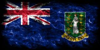 British Virgin Islands smoke flag, British Overseas Territories,. Britain dependent territory flag Royalty Free Stock Photography