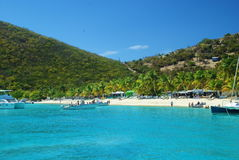 British Virgin Islands, Soggy Dollar. Soggy Dollar Bar and Restaurant on the British Virgin Island of Jost Van Dyke on the Caribbean Stock Images