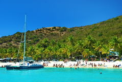 British Virgin Islands, Soggy Dollar. Soggy Dollar Bar and Restaurant on the British Virgin Island of Jost Van Dyke on the Caribbean Royalty Free Stock Image