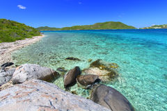 The British Virgin Islands. Tortola of the British Virgin Islands on a beautiful sunny day Stock Photo