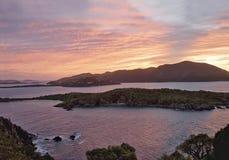 British Virgin Islands Tropical Sunset stock photo