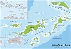 British- Virgin Islandskarte Stockbilder