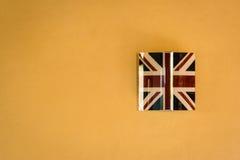 A british wall lamp. A wall lamp representing the british flag Stock Image