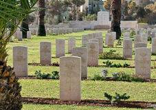 British War Memorial Cemetery in Beer Sheva. Burial of soldiers of the British Army, since the British Mandate in Palestine Royalty Free Stock Photos