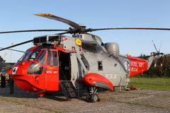 British Westland Sikorsky Sea King  helicopter Royalty Free Stock Images