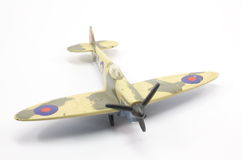 British WWII Airplane. Toy British fighter plane World War 2 spitfire Stock Photography